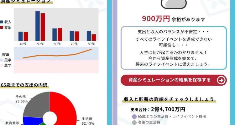 松井証券 将来シミュレーター結果