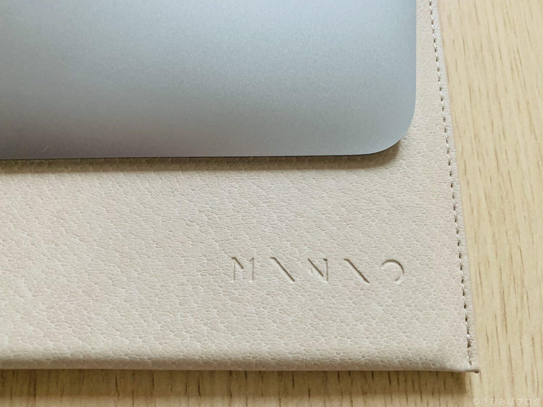 エレコム ケース MacBook Air、MacBook Pro 13インチ ロゴ部分拡大