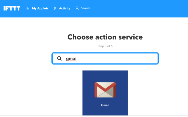 IFTTT Gmail設定