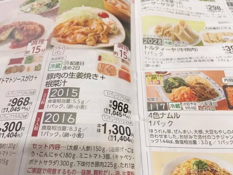 コープデリミールキットメニュー生姜焼きと根菜汁