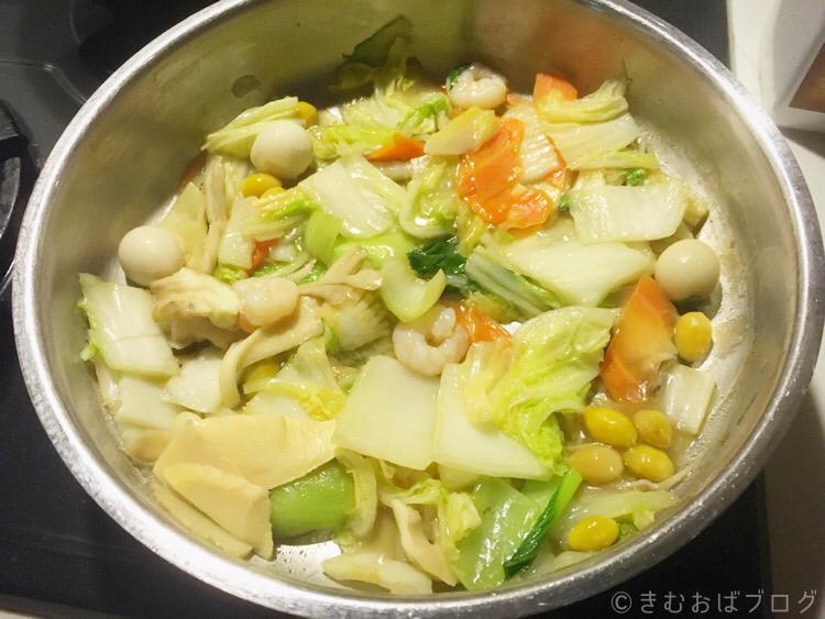 コープデリ ミールキットレビュー 季節の9品目八宝菜