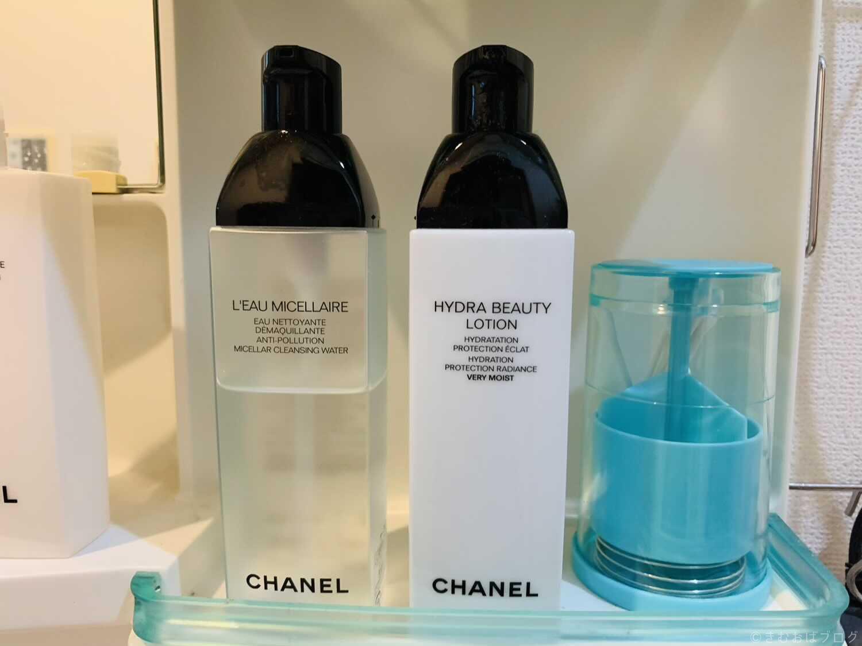 シャネル クレンジングと化粧水の保管場所
