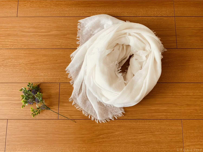 ハヤシグチ カシミア100%薄手ストール