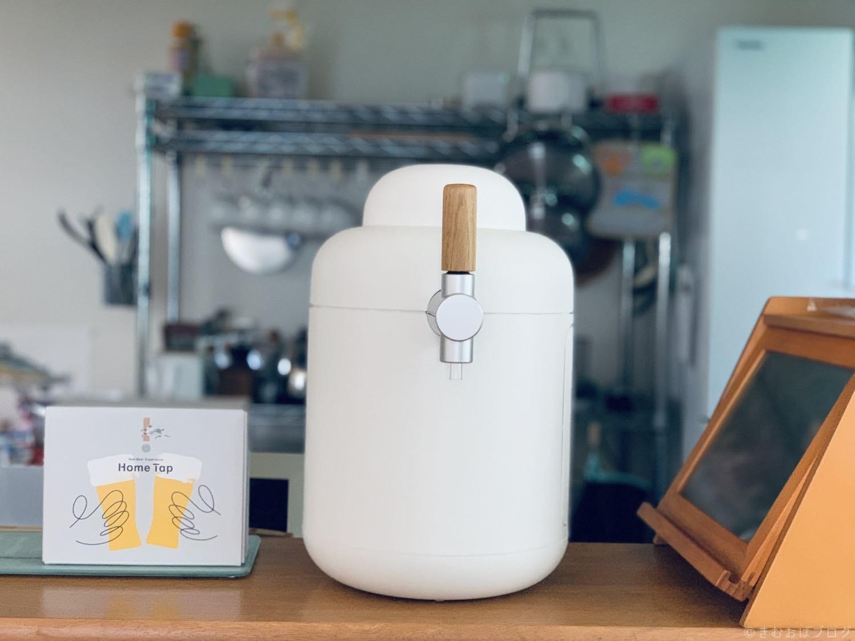 キリン ホームタップ キッチンカウンターに設置している写真