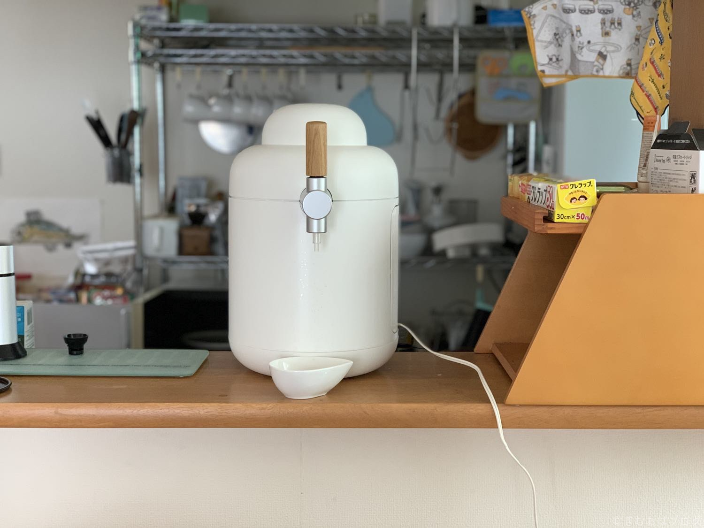 キリン ホームタップ 電源ケーブル接続したところ