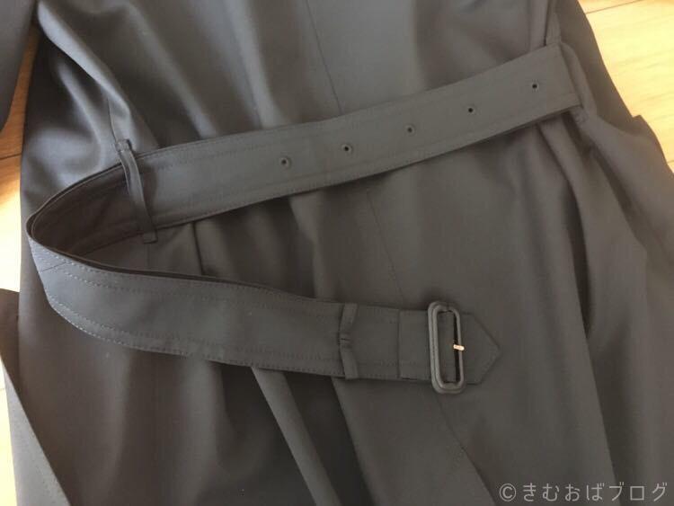 トレンチコートのベルトの結び方 2重ワンテール