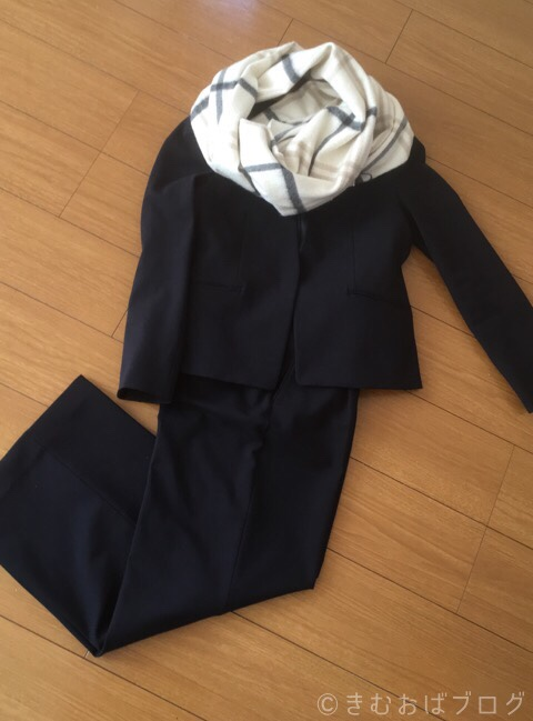 PLSTウォームリザーブスーツ チェックカシミヤストール