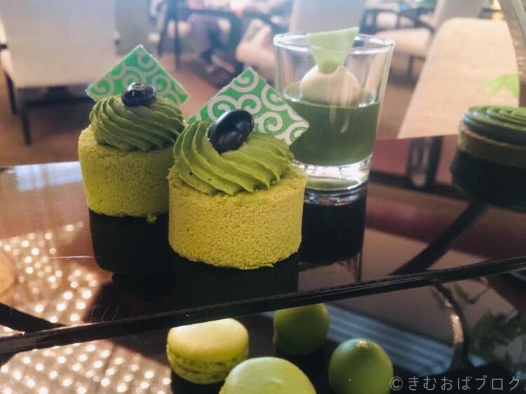 アトリウムラウンジ/ANAインターコンチネンタルホテル東京【抹茶アフタヌーンティーセット】ロールケーキ