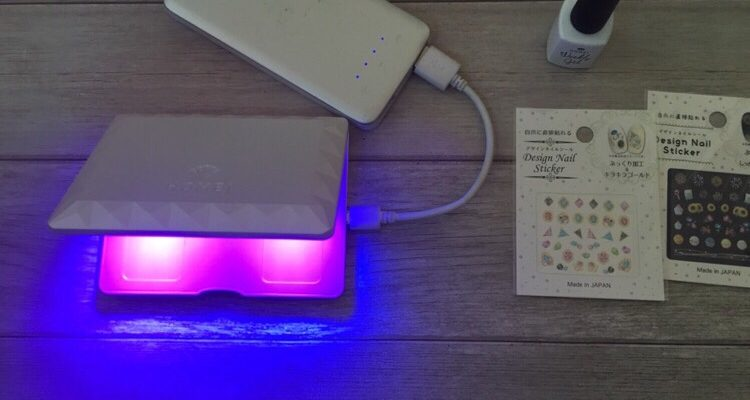 HOMEI コンパクトジェルライトなら、USBケーブルでモバイルバッテリーで使える
