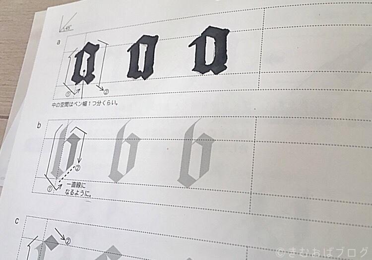 カリグラフィー練習帳 ゴシック体