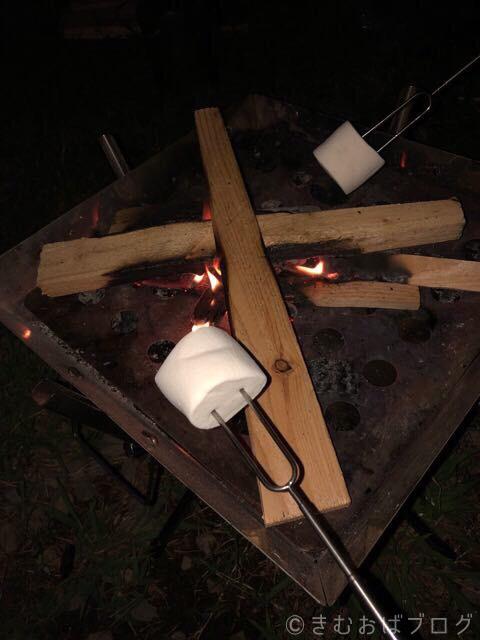 弱い火でもマシュマロなら焼ける