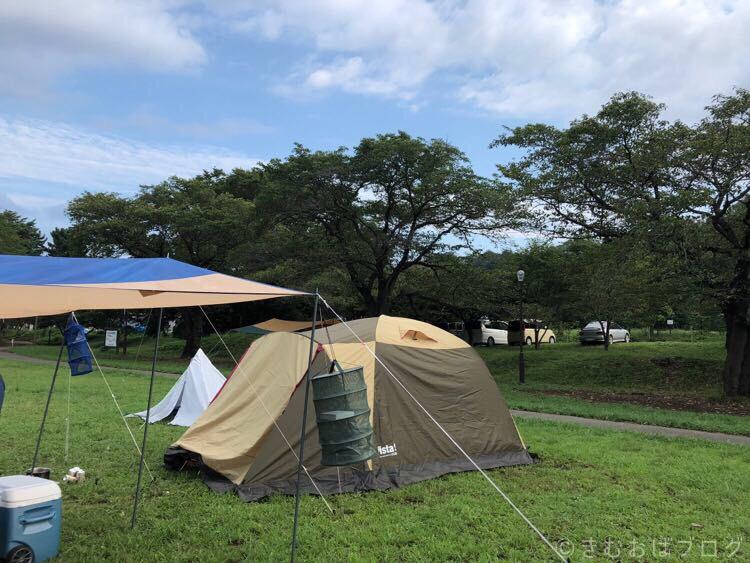 キャンプ設営後